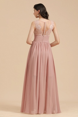 Halter Ruffle Chiffon Aline Bridesmaid Dress Wedding Party Dress_3