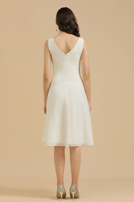 Elegant V-Neck Short Daily Casual Dress Sleeveless Chiffon Party Dress_3