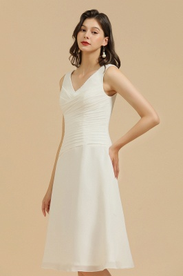 Elegant V-Neck Short Daily Casual Dress Sleeveless Chiffon Party Dress_4