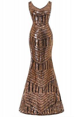 Sleeveless Newest Long Jewel Sequin Mermaid Prom Dress UK_2