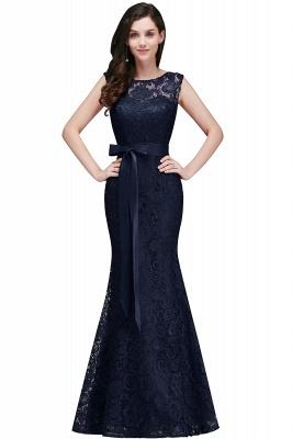 Bowknot-Sash Lace Floor-Length Burgundy Sleeveless Mermaid Prom Dress UKes UK_4
