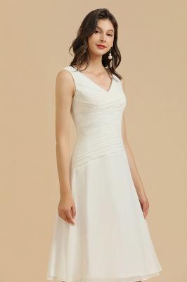 Elegant V-Neck Short Daily Casual Dress Sleeveless Chiffon Party Dress_6