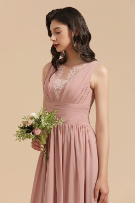 Halter Ruffle Chiffon Aline Bridesmaid Dress Wedding Party Dress_9