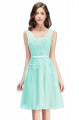 Beautiful Sleeveless lace-up Short homecoming Dress UK Lace Appliques Tulle BA3782_9