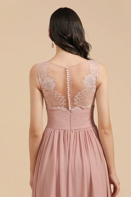 Halter Ruffle Chiffon Aline Bridesmaid Dress Wedding Party Dress_10