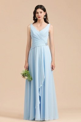 Stylish Sleeveless Aline Chiffon Bridesmaid Dress Formal Event Dress