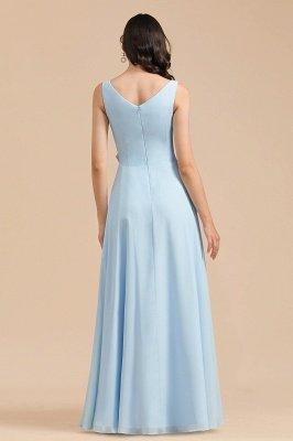 Stylish Sleeveless Aline Chiffon Bridesmaid Dress Formal Event Dress_3