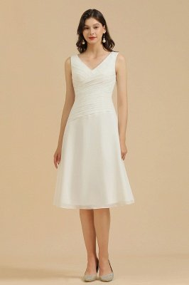 Elegant V-Neck Short Daily Casual Dress Sleeveless Chiffon Party Dress