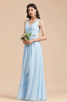 Stylish Sleeveless Aline Chiffon Bridesmaid Dress Formal Event Dress_6