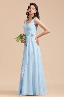 Stylish Sleeveless Aline Chiffon Bridesmaid Dress Formal Event Dress_5