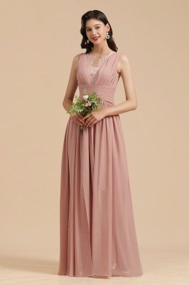 Halter Ruffle Chiffon Aline Bridesmaid Dress Wedding Party Dress