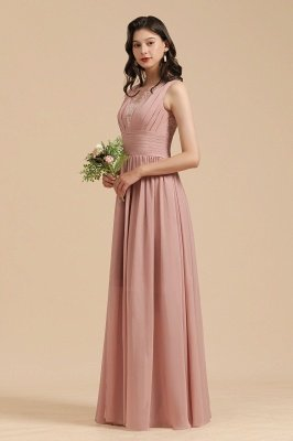 Halter Ruffle Chiffon Aline Bridesmaid Dress Wedding Party Dress_7