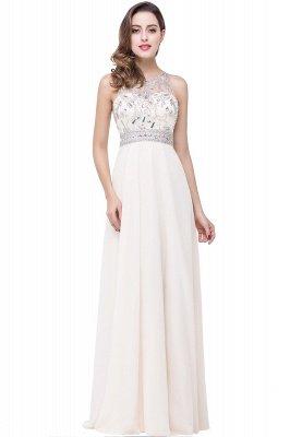 Chiffon Sleeveless Light-Champagne Long Crystals Prom Dress UKes UK BA6131_1