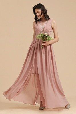 Halter Ruffle Chiffon Aline Bridesmaid Dress Wedding Party Dress_8