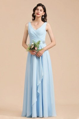 Stylish Sleeveless Aline Chiffon Bridesmaid Dress Formal Event Dress_4