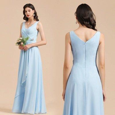 Stylish Sleeveless Aline Chiffon Bridesmaid Dress Formal Event Dress_10
