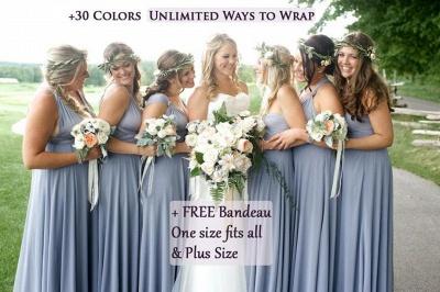 Convertible Dress Multi-way Twist Wrap Bridesmaid Dress Wedding Party Dress