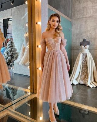 Boho Sparkly Sequins Soft Tulle Party Dress Off Shoulder Cocktail Formal Dresses_7