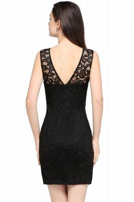 Back-Zipper Sheath-Column Lace Short-Mini Scoop-neckline Cocktail Dress UK_9