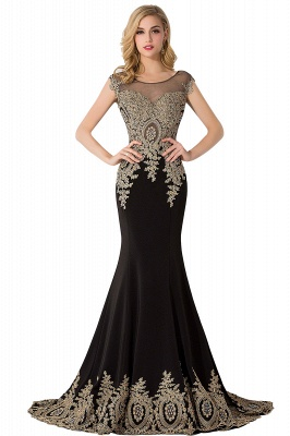 ABIGAIL | Mermaid Court Train Chiffon Evening Dress with Appliques_8