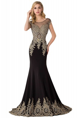 ABIGAIL | Mermaid Court Train Chiffon Evening Dress with Appliques_10