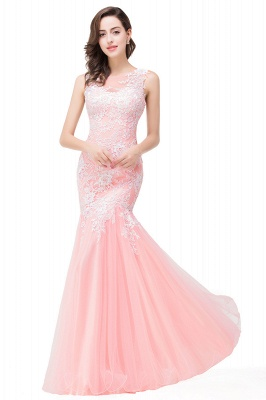 Sexy Pink Mermaid Prom Dress UK Straps Floor-length_1