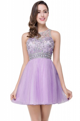 Sexy Beadings Crystal Short Prom Dress UK Chiffon Homecoming Gown_3