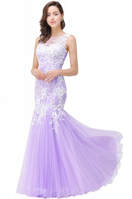Sexy Pink Mermaid Prom Dress UK Straps Floor-length_4