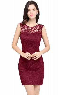 Back-Zipper Sheath-Column Lace Short-Mini Scoop-neckline Cocktail Dress UK_1