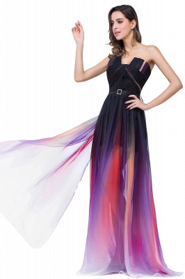 ELISABETH | A-line Floor-length Strapless Tulle Prom Dresses with Sash_10