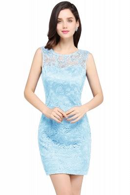 Back-Zipper Sheath-Column Lace Short-Mini Scoop-neckline Cocktail Dress UK_4