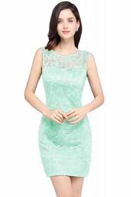 Back-Zipper Sheath-Column Lace Short-Mini Scoop-neckline Cocktail Dress UK_7