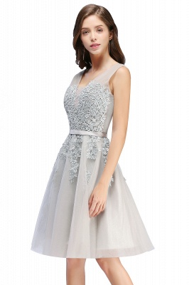 Beautiful Sleeveless lace-up Short homecoming Dress UK Lace Appliques Tulle BA3782_3