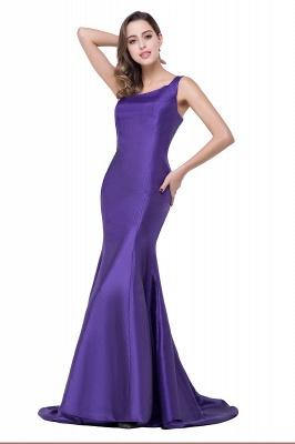 Elegant Burgundy One Shoulder Mermaid Prom Dress UK With Train_3