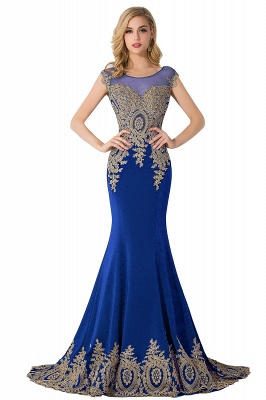 ABIGAIL | Mermaid Court Train Chiffon Evening Dress with Appliques_4