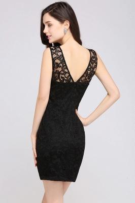 Back-Zipper Sheath-Column Lace Short-Mini Scoop-neckline Cocktail Dress UK_11