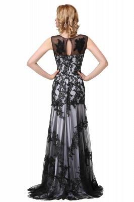 DANIELA | Scoop Neck Mermaid Black lace Applique Evening Prom dresses_9
