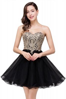 Gabriela | A Line Lace Appliques Sweetheart Short Prom Dresses_7