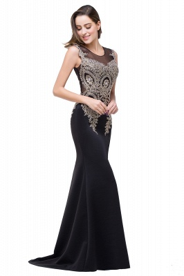 ADDISYN | Mermaid Floor-length Chiffon Evening Dress with Appliques_14