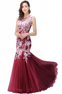 Sexy Pink Mermaid Prom Dress UK Straps Floor-length_2