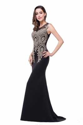 ADDISYN | Mermaid Floor-length Chiffon Evening Dress with Appliques_13