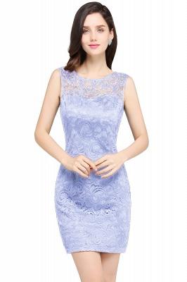 Back-Zipper Sheath-Column Lace Short-Mini Scoop-neckline Cocktail Dress UK_3