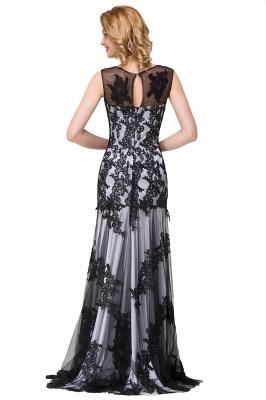DANIELA | Scoop Neck Mermaid Black lace Applique Evening Prom dresses_14