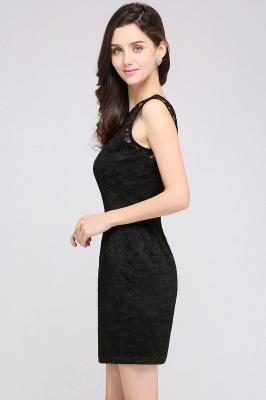 Back-Zipper Sheath-Column Lace Short-Mini Scoop-neckline Cocktail Dress UK_13