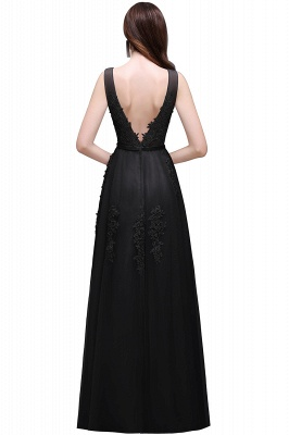 ADDYSON | A-line Floor-length Tulle Bridesmaid Dress with Appliques_8