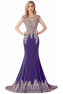 ABIGAIL | Mermaid Court Train Chiffon Evening Dress with Appliques_3