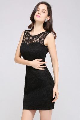 Back-Zipper Sheath-Column Lace Short-Mini Scoop-neckline Cocktail Dress UK_12