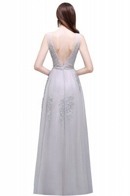 ADDYSON | A-line Floor-length Tulle Bridesmaid Dress with Appliques_11