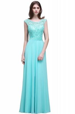 Gorgeous Lace-Appliques Chiffon A-Line Scoop prom Dress UKes UK_1