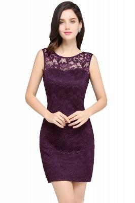Back-Zipper Sheath-Column Lace Short-Mini Scoop-neckline Cocktail Dress UK_2